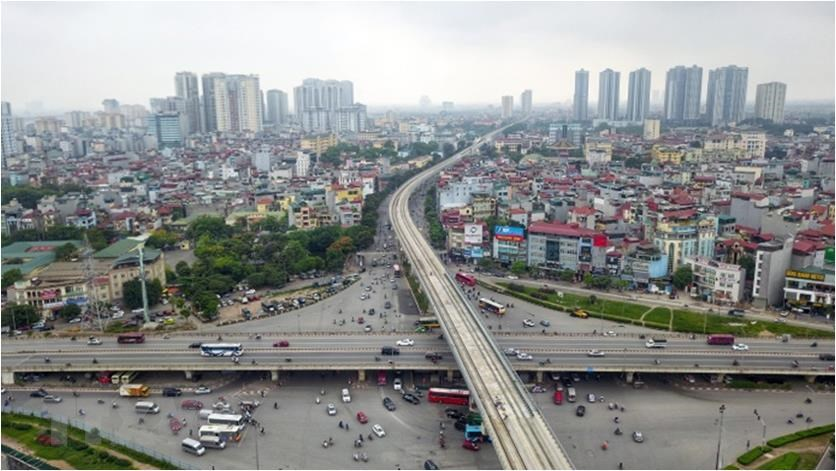 Hanoi is set to continue building a third metro line connecting Hanoi Railway Station with the outlying district of Hoang Mai from 2021 to 2025 (Photo: VNA)