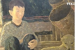Lacquer paintings depict old villages