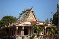 Famous Khmer pagoda on Vietnam-Cambodia border area