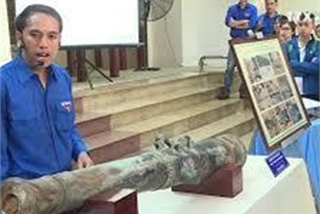 Bronze cannon dating back to feudal era introduced to public