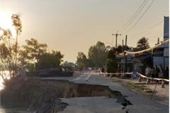 Landslides continue pulling down national road