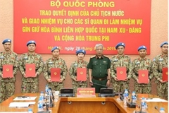 Seven more Vietnamese officers join UN peacekeeping mission