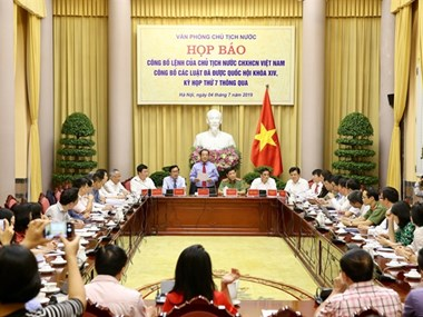 VN President's order on promulgation of seven laws