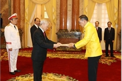 Party, State leader receives new ambassadors