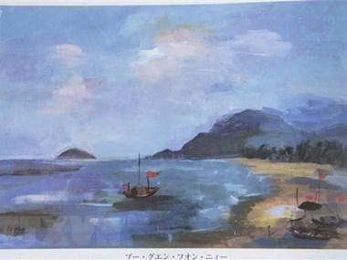 Vietnamese student's painting exhibited in Japan