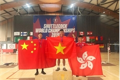 Vietnam win two golds at Shuttlecock World Championships 2019
