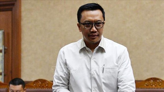 Indonesia's anti-graft agency detains former sports minister hinh anh 1
