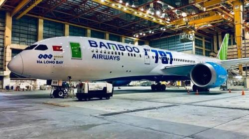 Bamboo Airways takes delivery of first Boeing 787-9 Dreamline in Hanoi hinh anh 1
