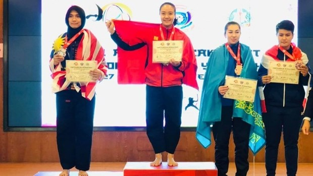 Vietnamese athlete wins gold medal at Asian Pencak Silat Championship