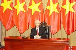 Top leader's message on Vietnam's assumption of ASEAN, UNSC positions