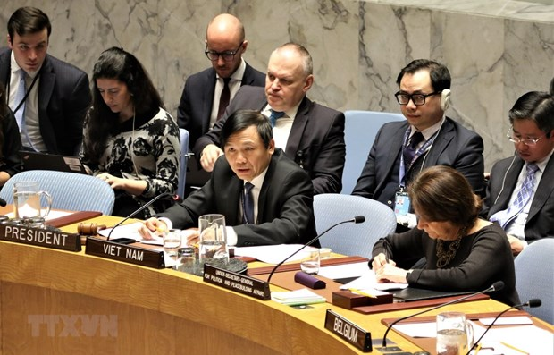 Vietnam chairs UNSC open debate on Middle East situation hinh anh 1