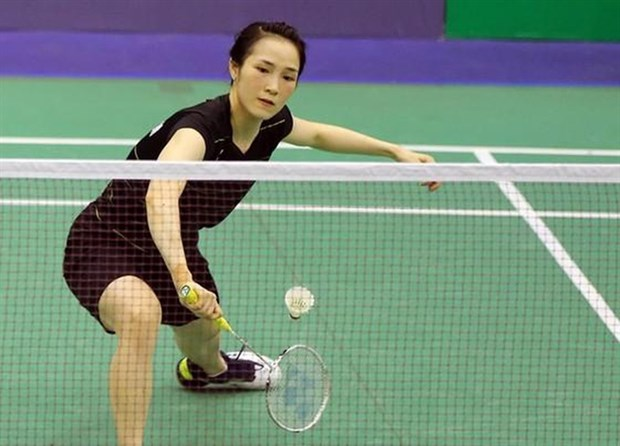Vietnamese female badminton players win in first round of Austrian Open hinh anh 1