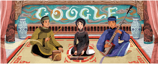 Google Doodles honours Vietnam's ca tru art hinh anh 1