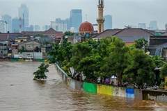 Jakarta floods leave at least five people dead, three missing