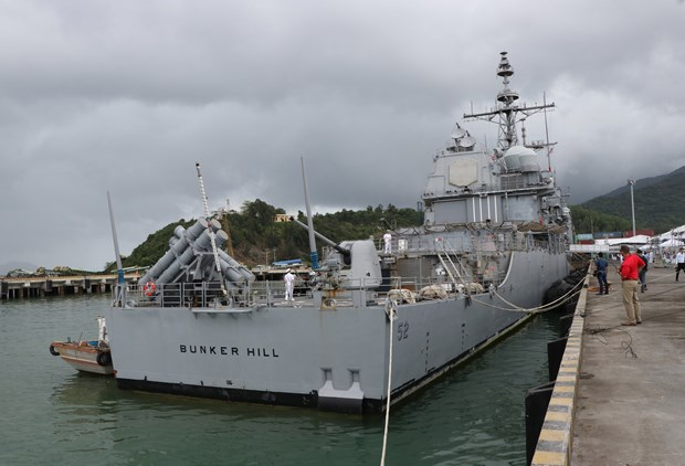 US naval ships arrive in Da Nang hinh anh 1