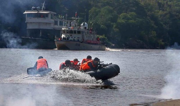 Four countries begin joint patrol on Mekong River hinh anh 1