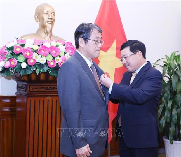 Japanese outgoing ambassador honoured hinh anh 1