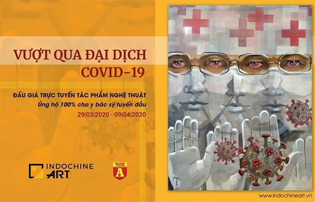Art works put up for auction to support pandemic fight hinh anh 1