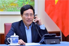 Deputy PM, FM holds phone talks with Spanish foreign minister
