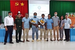Indonesian sailors from sunken ship return home