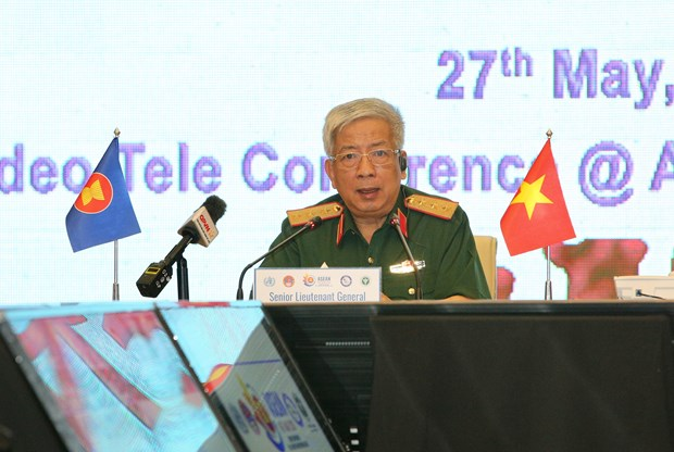 ASEAN military medicine forces join online COVID-19 response exercise hinh anh 1