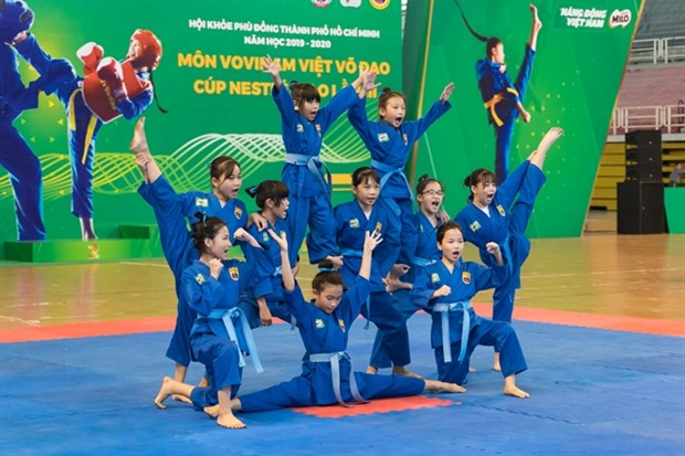 Student Vovinam tournament begins in HCM City hinh anh 1