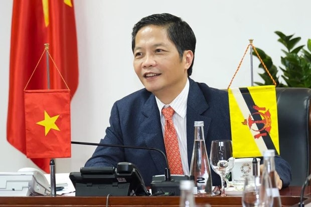 Vietnam, Brunei agree to strive for prompt opening of trade routes hinh anh 1