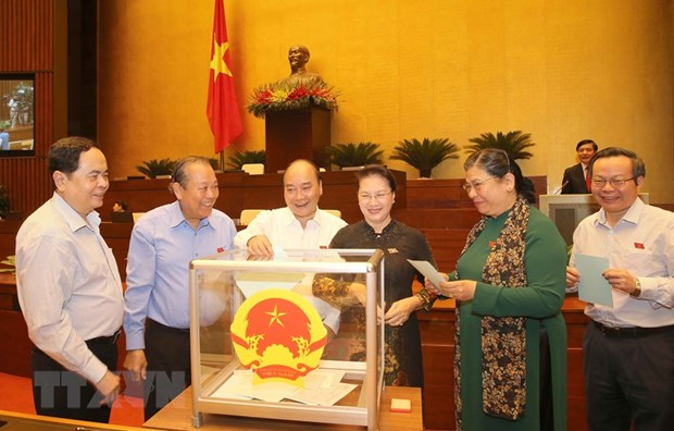 NA Chairwoman Ngan elected as Chairperson of National Election Council hinh anh 1