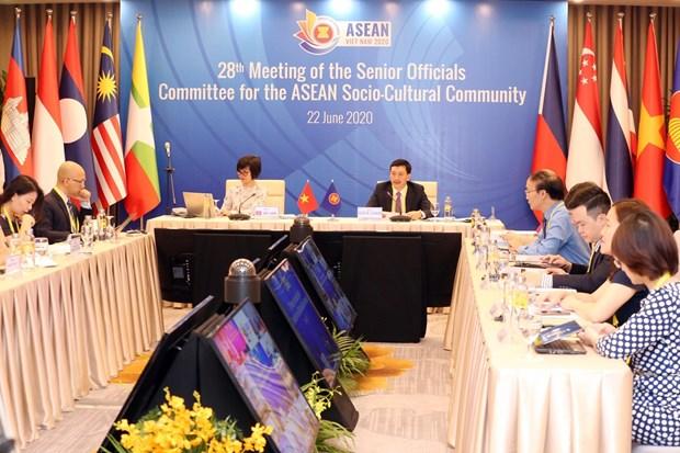 Senior officials for ASEAN Socio-Cultural Community meet online hinh anh 1