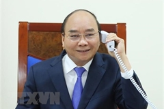 Vietnamese, Malaysian PMs hold phone talk