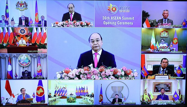 36th ASEAN Summit opens in Hanoi hinh anh 1