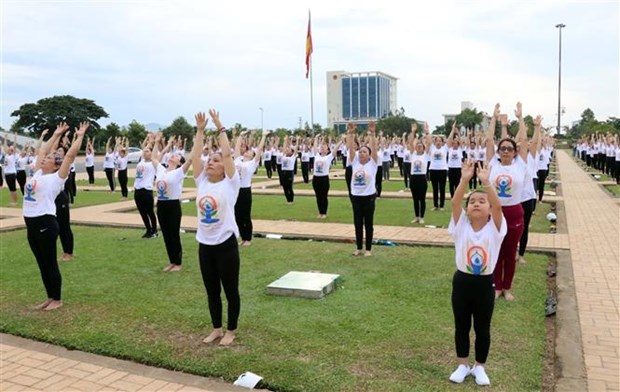 International Day of Yoga marked in Ninh Thuan, Thanh Hoa hinh anh 1
