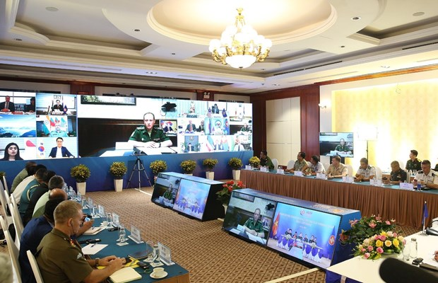 ASEAN Defence Senior Officials' Meeting Plus Working Group held video conference hinh anh 1