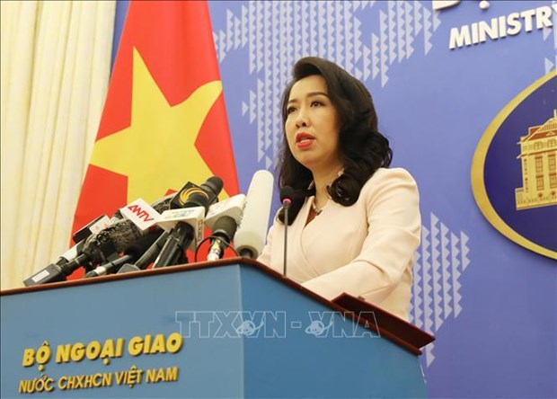Vietnam objects to China's military drills in Hoang Sa: FM spokesperson hinh anh 1