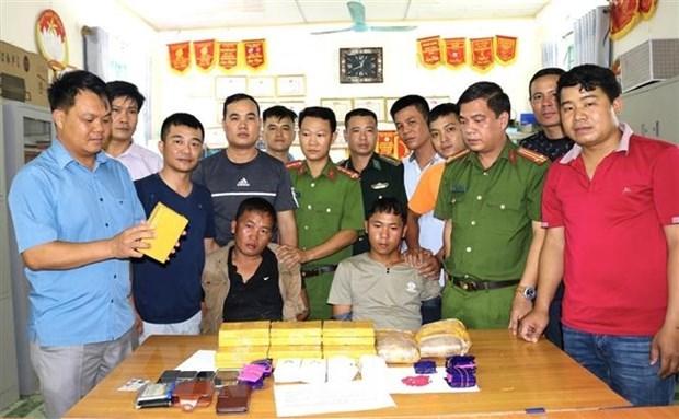 Large haul of drugs seized in Dien Bien hinh anh 1
