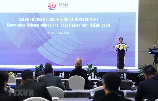 ASEAN forum on sub-regional development opens hinh anh 1