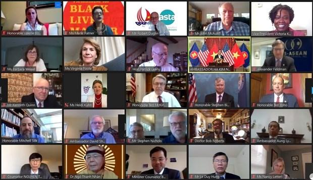 Virtual ceremony marks 25 years of Vietnam-US ties hinh anh 1