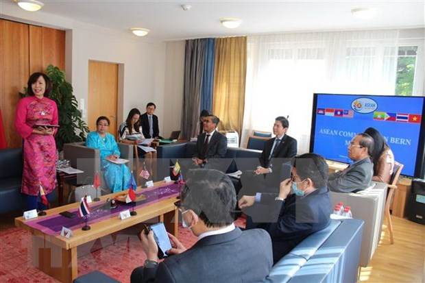 Vietnamese embassy chairs meeting of ASEAN Committee in Bern hinh anh 1