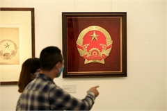 Original sketches of Vietnam's national emblem on show