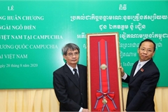 Cambodia's Royal Order posthumously presented to former Ambassador