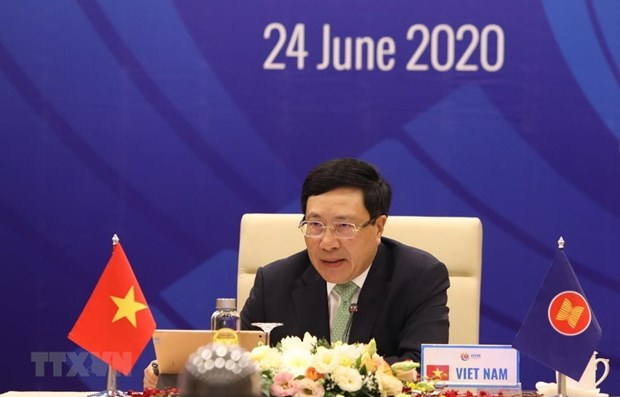 53rd ASEAN Foreign Minister's Meeting to be held online hinh anh 1