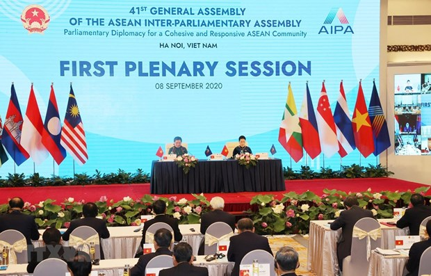 Important issues on table during AIPA 41's second working day hinh anh 1