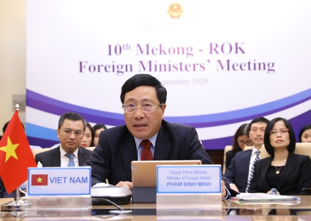 10th Mekong-RoK Foreign Ministers' Meeting held online hinh anh 1