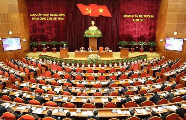 Socio-economic reports, plans delivered at Party Central Committee's 13th session hinh anh 1