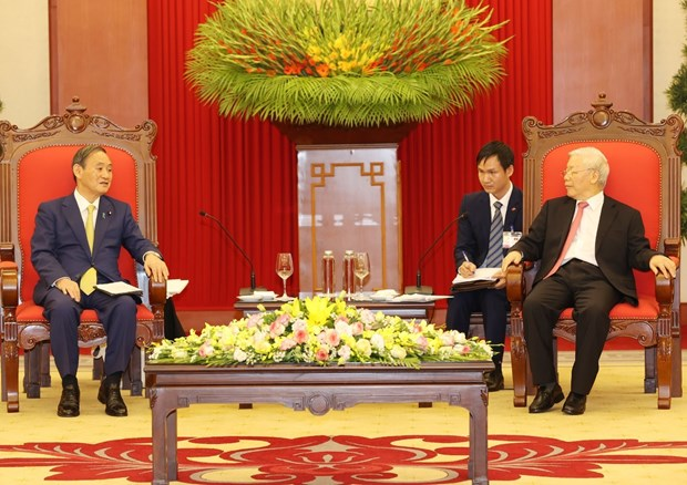Vietnam considers Japan a leading, long-term partner: top leader hinh anh 1