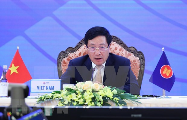 ASEAN moves firmly, collectively ahead: FM Pham Binh Minh hinh anh 1