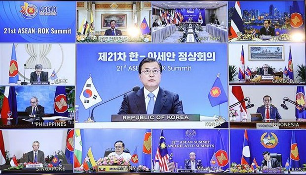 PM chairs 21st ASEAN-RoK Summit hinh anh 1