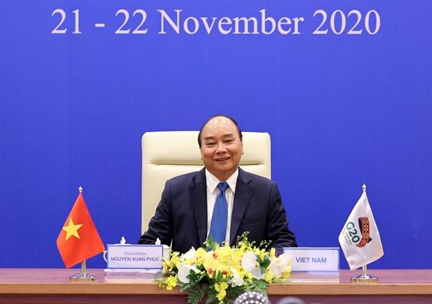 PM Nguyen Xuan Phuc attends virtual G20 Summit hinh anh 1