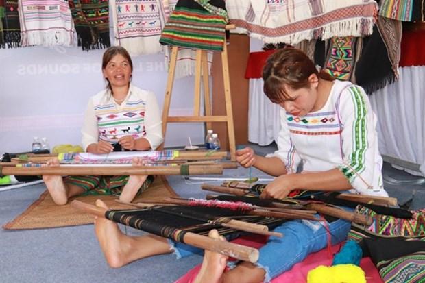 Locals preserve value of Vietnamese brocade hinh anh 1
