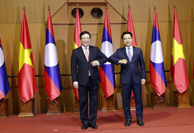Vietnam, Laos hold foreign ministerial-level political consultation hinh anh 1